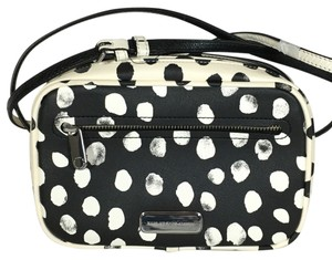 Marc by Marc Jacobs Polka Dot Black And White Silver Cross Body Bag