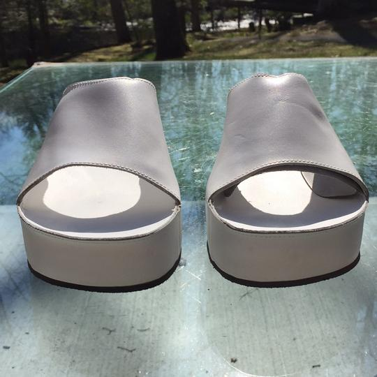 Robert Clergerie White Mules Image 1