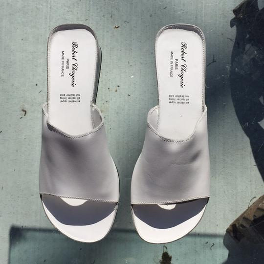 Robert Clergerie White Mules Image 2