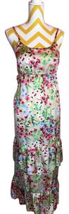 floral, beige Maxi Dress by Old Navy Floral Maxi