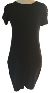 Zara short dress Black Wool Sequin on Tradesy