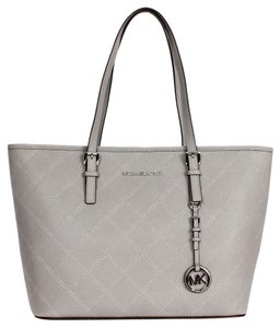 Michael Kors Nwt Mk Leather Designer Sale Tote in Gray
