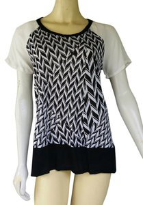 Ella Moss & White Tunic Rayon T Shirt Black