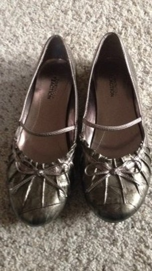 Kenneth Cole Reaction Ballet Metallic Bronze Shiny Bridesmaid Prom Bronzey 6 6m Dressy gold Flats