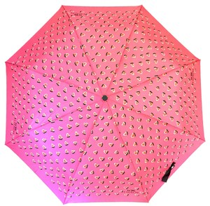 Coach Coach Retractible Umbrella Pink Heart Print