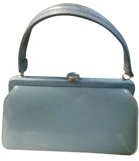 Preload https://img-static.tradesy.com/item/14592820/vintage-pearly-blue-patent-leather-satchel-0-1-540-540.jpg