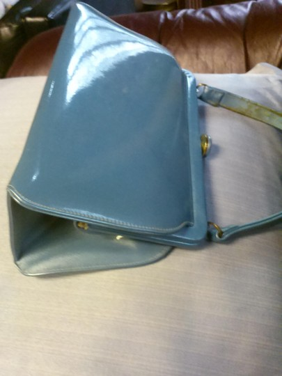 Theodore California Satchel in pearly blue Image 1