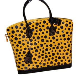 Louis Vuitton Lockit Mm Tote in Yellow & Black