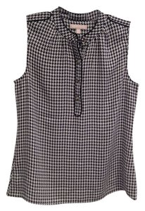 Banana Republic Top Black and White Houndstooth
