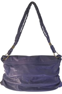 Tod's Leather Ruched Braided Purple Messenger Bag