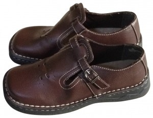 High Sierra School 6 Women's 6 School Girl Loafer Leather Mary Jane brown Flats