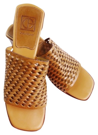 Preload https://item5.tradesy.com/images/cole-haan-tan-woven-leather-open-toe-slides-wedges-size-us-85-narrow-aa-n-1459379-0-0.jpg?width=440&height=440