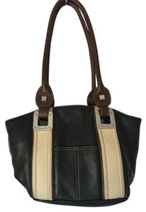 Tignanello Inside Pockets Two Inside Pouches Pouch In Front Roomy Satchel in BROWN AND TAN