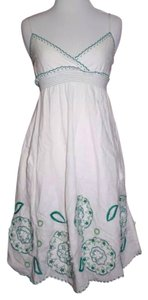 Mint short dress White and Green on Tradesy