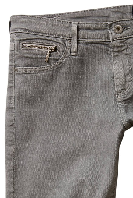 Item - Grey Light Wash The Stevie Ankle Zip Straight Leg Jeans Size 27 (4, S)