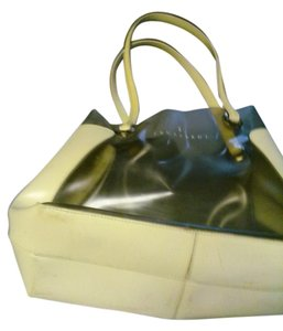 Trussardi Tote in beige and translucent greenish