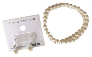 Charter Club Charter Club Silver-Tone Crystal Pearl Drop Earrings & Pearl Bracelet