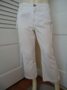 Other Sanctuary Los Angeles Cargo Cropped Pockets Zip Front Cute Capri/Cropped Pants Whites