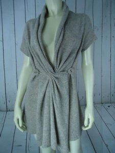 Urban Outfitters Wrap Taupe Wool Nylon Boho Long Hem Sweater