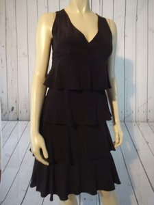 Molly New York short dress Black Silk Ruffle Tier Rumba Sleeveless Lined Lbd So Chic on Tradesy