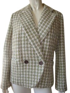 Banana Republic Blazer Wool Blend Double Breasted Unlined Nice Greens Jacket