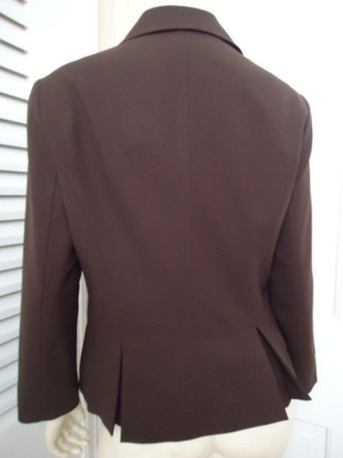 Lafayette 148 New York Lafayette 148 Ny Blazer Zip Front Brown Wool Stretch Blend Special Cut Chic Image 4