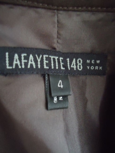 Lafayette 148 New York Lafayette 148 Ny Blazer Zip Front Brown Wool Stretch Blend Special Cut Chic Image 5