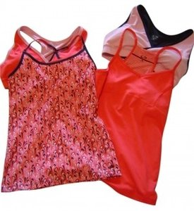 Champion Cute And Functional Tops To Wear Separately Or To Mix And Match. Shades Of Salmon And Black. Great For Workout Yoga