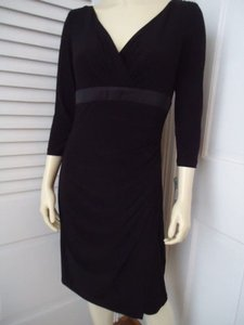 Ralph Lauren 10p Pullover Stretch Poly Faux Wrap Wtag Chic Dress