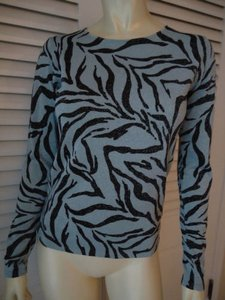Peter Nygard Nygard Collection Silk Blend Thin Knit Zebra Sweater