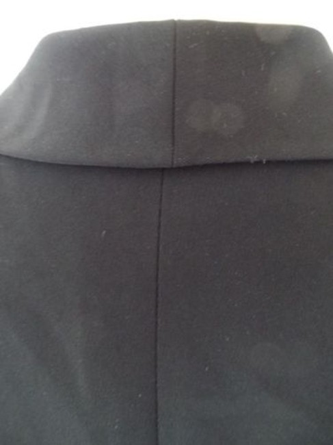 Other Tahari Petite Blazer 6p A.s. Levine Black Poly Stretch Button Front Ruffle Chic Image 10