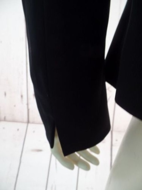 Other Tahari Petite Blazer 6p A.s. Levine Black Poly Stretch Button Front Ruffle Chic Image 9