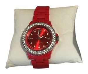 Jet Set Jet Set Bright Red Plastic Watch NIB $140
