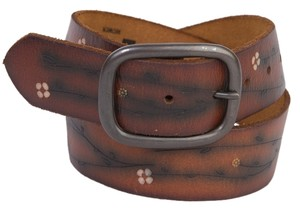 Gap Genuine Leather Belt in Brown with Floral Design - Size S