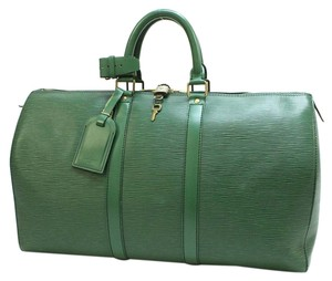 Louis Vuitton Keepall 45 Green Travel Bag