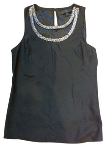 Banana Republic Silk Sleeveless Top black
