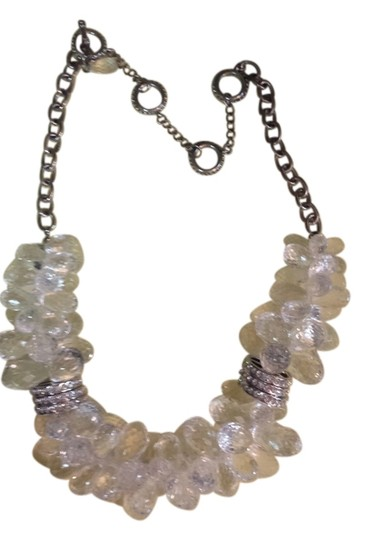 Preload https://img-static.tradesy.com/item/14595505/silver-clear-chunky-necklace-0-2-540-540.jpg