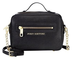 Juicy Couture Saffiano Leather Satchel in Black