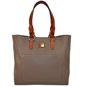 Dooney & Bourke Small Pammy Pebble Leather Tote in Taupe