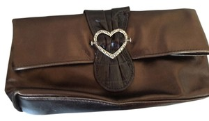 Brighton Leather Or Clutch Silver Shoulder Bag