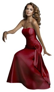 Mori Lee Strapless Taffeta Prom Dress