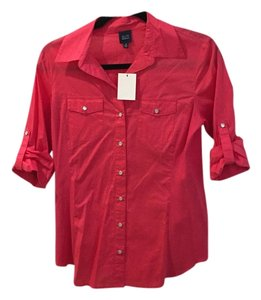 Saks Fifth Avenue Button Down Shirt Hot pink