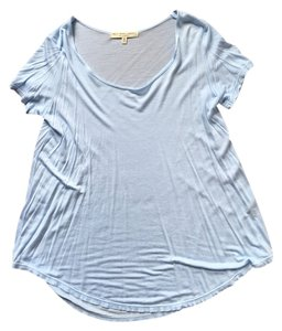 Urban Outfitters Loose Fitting Light Weight Shirt Tail Hem T Shirt Baby Blue
