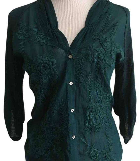 Item - Teal Blouse Size 4 (S)