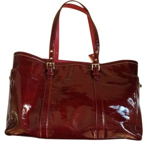 Coach Tote in Ox Blood Red