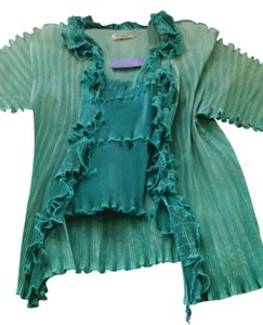 ellen haupti Top emerald green