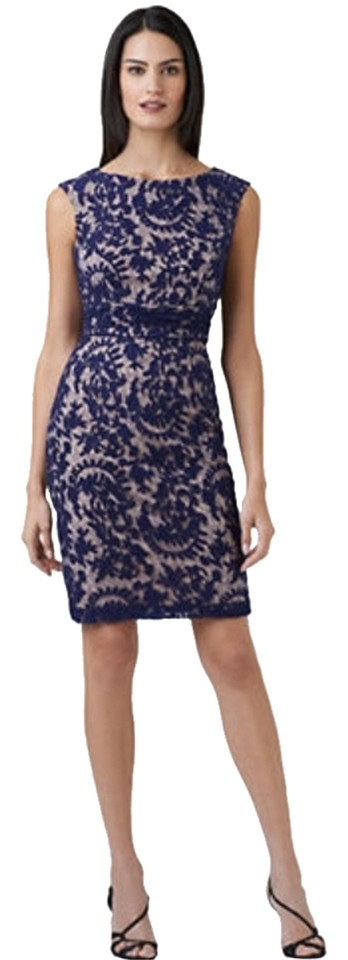 Adrianna papell contrast lined lace sheath dress 43 off for Adrianna papell wedding guest dresses