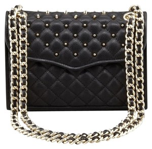 Rebecca Minkoff Studded Quilted Leather Cross Body Bag