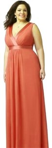 Dessy Full Length Chiffon Empire Waist Dress