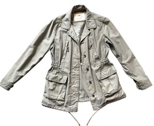 Gap Military Style Oversized Anorak Thick Distressed Coat